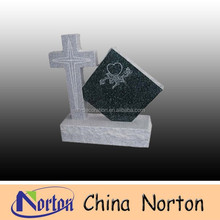 carved heart hand carved cross granite headstone price NTGT-143S