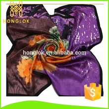Hot Selling With Logo Big Size 100% Silk Printed Scarf