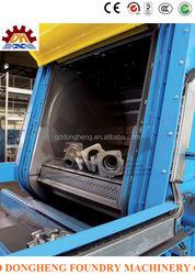 CE tumble belt shot blasting machine for double end bolt connected steel warehouse column energy saving