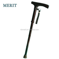 Wood Handle Adjustable Carbon Fiber Walking Stick/Walking Cane