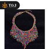 >>2015 fashion New Bohemian Necklaces Women Handmade Collier Femmel Long Tassel Beads Choker Necklaces -