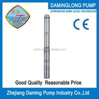 0.5hp motor pump 100QJD205-0.37kw 34m head 2m3/h