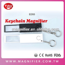 2015 New Factory Direct Personal Magnifier Flat Magnifier Pop Out keychain magnifier