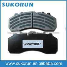 Pastillas de freno de camiones WVA 29087 con E-MARK, certificación TS16949