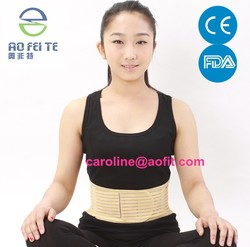 Made in china comfortable exercise adjustable far infrared lower abdominal support waist brace strap for hot selling