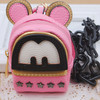 Pink Bag Necklace For Girls Necklace Bag Fashion Cartoon Bag , Jewelry Accessories(SWTAA1850)