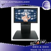 7 inch 5:3 Desktop indoor 800x480 Resistive Touch Screen
