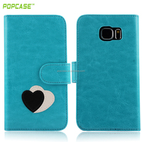 flip wallet leather case for samsung S6