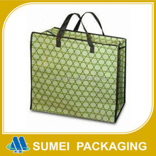 Custom Extra Large Recyclable PP Non Woven Shopping Bag With Zipper