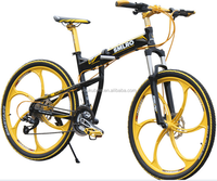 "26"" aluminum alloy frame mountain bike/bicycle/ 27speed folding bike"