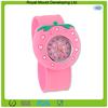 sweet stawberry shaped custom silicone watch /kids slap watch