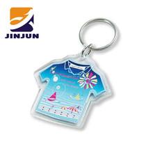 custom cheap mini keychain digital photo frame T-shirt shaped keychain