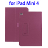 OEM service 2 Folding Litchi Texture stand case for ipad mini 4 cover