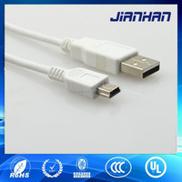white micro usb charging cable for smartphone and mobile phone