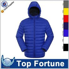Provide OEM service outdoor man's leather down jacket