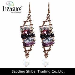 New European and American wholesale designer jewelry gold earring designs jewelry,rhinestones jewellery wholesale