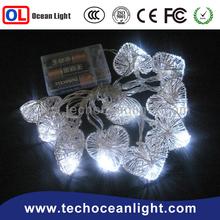Christmas white lights 10 LED rattan ball and heart shape Battery String Light