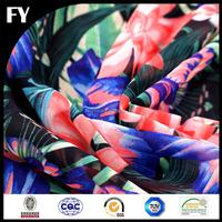Digital silk chiffon floral printed fabrics for garments