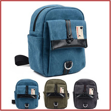 Waterproof Canvas cheap dslr leather backpack for school