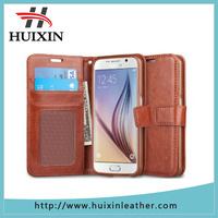Premium protective case wallet leather case for mobile phone with magnet blocking