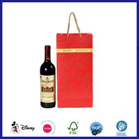 Popular handmade red wine gift paper bag