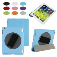 Hot sales rotating 360 degree handheld PC case for iPad, special for iPad case