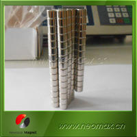 bulk package cylinder/round shape/disc neodymium rare earth magnet with nickel plating