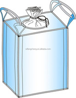 export quality 1000kg PP bulk container bag/jumbo bag with top skirt