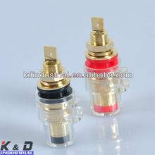 24K Gold Plated banana plug Speaker Cable Tube Amp Terminal Plug Binding post screw/terminal