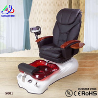 White portable pedicure foot massage spa chairs with blue glass bowl KM-S001