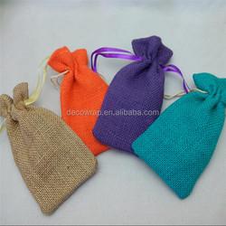 2016 cheap Hot sale Mini drawstring Jute Bag wholesale
