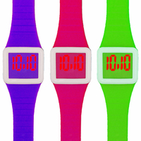 Hot Sale Cheap Price Silicone Watches, Promotional Custom Silicone Wrist Watch For Kids Gift, Fashion LED Wristwatch