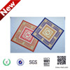 multi-color microfiber chenille car floor mats printed