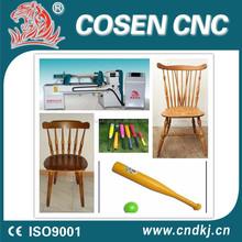 caliente venta fácil de operación chino tornos bate de béisbol de madera torneado cnc torno torneado de la madera de la máquina