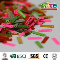 new Arrival Hot selling PVC mixed- color decorative loose rectangle sequin