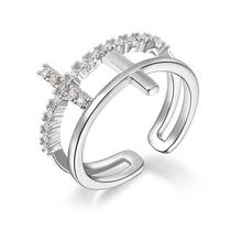Fashion wedding ring cuff silver ring designs for girl