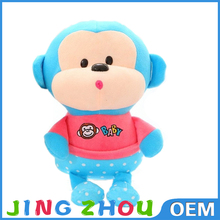 Factory price export custom blue monkey stuffed animal