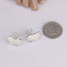 Popular Sterling Silver Plated Butterfly Shaped Animal Pendant Stud Earrings Jewelry