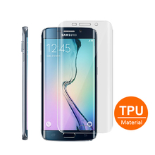 TPU Full cover clear screen protector for samsung galaxy S6 edge