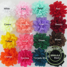 "IN STOCK 4"" Soft Silk Flowers Fluffy Flower,Kids Fabric Hair Flowers"