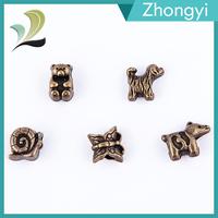 Trade Assurance Metal Animal Dog Shaped Beads