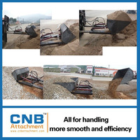 Forklift Attachment Hydraulic Steel Dirt Bucket