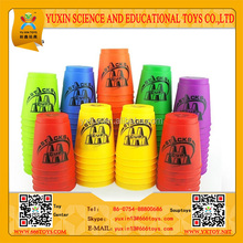 YUXIN TOYS educational toys of speed stack cup playing with fast speed and change color and position mixed 6 colors