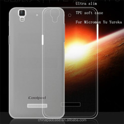 New 0.3mm TPU invisiable Soft Phone Cases for Micromax YU Yureka,high quality Ultra slim soft back cover for Micromax Yu Yureka