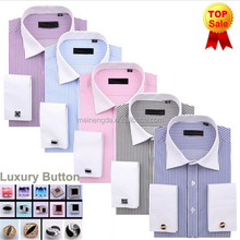 Bulk Wholesale Alibaba top quality made in China french cuff latest shirt designs for men