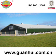 Low cost small prefab poultry house with ventilation
