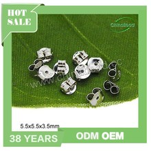 Wholesale 925 sterling silver earring back stoppers, earring accessories