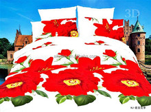 Latest cheap king size bedroom luxury wedding floral embroidery duvet cover high quality flax bedding set