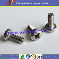 Your first choice! Delicate machine screws Cross recessed big flat head screw for SS or iron