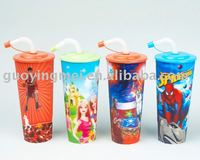 cheap thermal cups,promo plastic tumbler drinking cups with straw